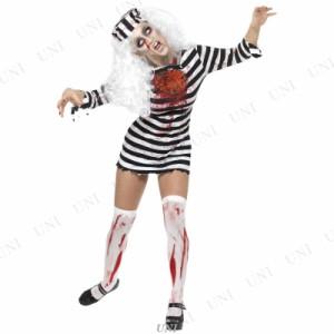 【SALE】 ゾンビ囚人ドレス 大人用 M ハロウィン 仮装 衣装 コスプレ コスチューム 女性用 レディース パーティーグッズ