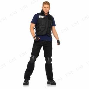 【送料無料】SWATコマンダー 大人用 仮装 衣装 コスプレ ハロウィン 大人 コスチューム メンズ ポリス 警察 男性用 警察官 警官