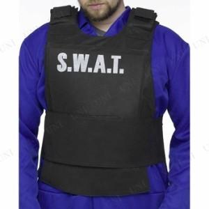 SWATベスト 大人用 仮装 衣装 コスプレ ハロウィン 大人 コスチューム メンズ ベスト ポリス 警察 男性用 パーティーグッズ 警察