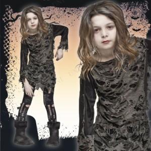 【SALE】 ウォーキングゾンビ 子供用 M ハロウィン 仮装 衣装 コスプレ コスチューム 子ども用 キッズ こども パーティ