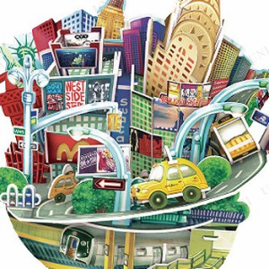 3Dパズル City Scape New York(貯金箱) おもちゃ 玩具 オモチャ ジグソーパズル 立体パズル