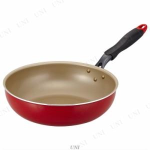 エバークック フライパン evercook 28cm炒め レッド EFPDN28RD 台所用品 キッチン用品 調理器具 料理 ク