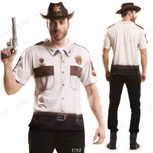 ! S.L. コスT シェリフ 仮装 衣装 コスプレ ハロウィン 大人 コスチューム メンズ ポリス 警察 ティーシャツ 大人用 男性用 警察