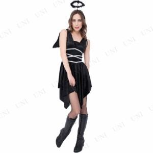 51243269cc8a0 CLUB QUEEN Black Angel(ブラックエンジェル) コスプレ 衣装 ハロウィン 仮装 天使 ブラック !!