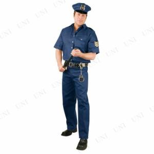 【送料無料】ポリス 大人用 L 仮装 衣装 コスプレ ハロウィン 大人 コスチューム メンズ ポリス 警察 男性用 パーティーグッズ