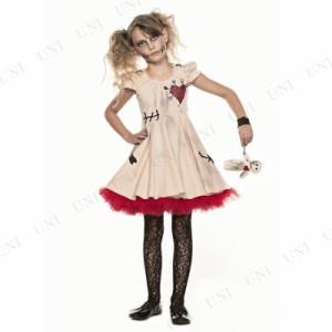 ブードゥーガール 子供用 M ハロウィン 仮装 衣装 コスプレ コスチューム 子ども用 キッズ こども パーティーグッズ ゾンビ