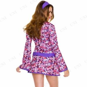 フローラルドレス ML 仮装 衣装 コスプレ ハロウィン 大人用 コスチューム 女性 パーティー ドレス 女性用 レディース ダンサー