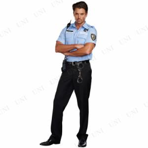 プリズンガード XL 仮装 衣装 コスプレ ハロウィン 大人 コスチューム メンズ 大きいサイズ ポリス 警察 大人用 男性用 警察官
