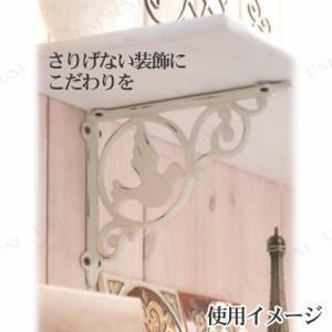 【取寄品】 アイアンブラケットL ホワイト インテリア用品 インテリアパーツ DIYパーツ 棚受け金具 飾り棚 ウォールシェルフ