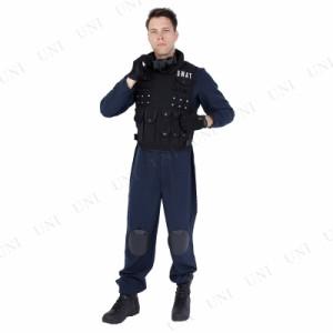 Patymo スワットセット 仮装 衣装 コスプレ ハロウィン 大人 コスチューム メンズ ポリス 警察 大人用 男性用 パーティーグッズ