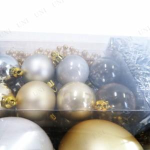 【SALE】クリスマス ツリー オーナメント ラージツリーオーナメントセット(クリスマスプレート入り) ゴールド クリスマスパー