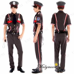Malymoon ロッシー警察 パーティ 衣装 コスプレ ハロウィン 仮装 大人 コスチューム ポリス 警察官 メンズ 大人用 男性用 警官