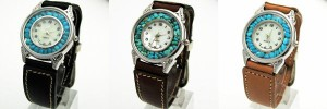 腕時計 革 レザーウォッチ クォーツ リアルストーン ブレスレット 日本製 tki2