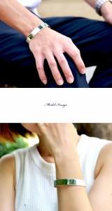 【送料無料】シンプルデザイン/11mm/鏡面ワイド平バングル/シルバー925/メンズ レディース ブレスレット/BB