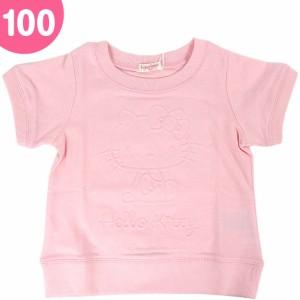 ハローキティ 半袖トレーナー キッズ 子供 エンボス 100cm ピンク☆サンリオ 春夏キッズアウター衣料シリーズ
