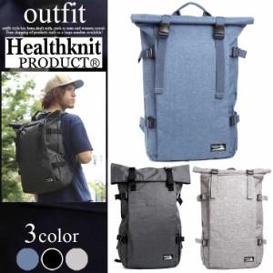 Healthknit ( ヘルスニット ) リュック バックパック フラップ型 グレー