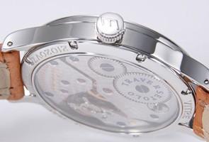 エベラール  腕時計 トラベルセトロ ビトレ ホワイト/ライトブラウンレザー 21020.1VZ