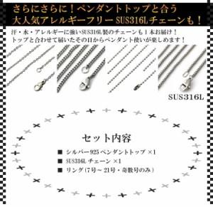 シルバー925 ペンダント トップ が必ず入る! アクセ 3点福袋 メール便 / アクセサリー メンズ ネックレス リング チェーン 送料無料