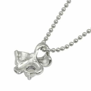 ネックレス レディース 誕生石 シルバー 人気 リボン ネックレス 4月誕生石天然ダイヤモンド ギフト 送料無料