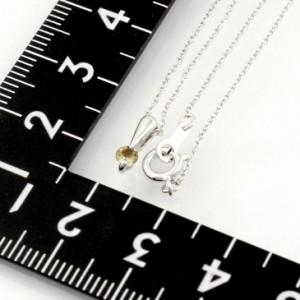4月の誕生石天然ブラウンダイヤモンド1石0.1ctプラチナコーティングシルバーネックレス 送料無料