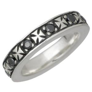 DEAL DESIGN ディールデザイン シルバー リング 指輪 メンズ レディース フラッシュクロス 7月 誕生石 390710