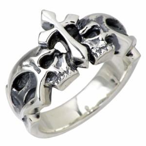 DEAL DESIGN ディールデザイン シルバー リング 指輪 メンズ レディース クラウンスカル 髑髏ドクロ骸骨 390958