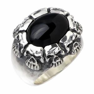 リング 指輪 メンズ DICKY & GRANDMASTER シルバー エイトブラザーススカル 髑髏ドクロ骸骨 ディッキー&グランドマスター EBSR-1
