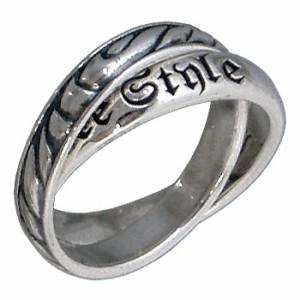 リング 指輪 メンズ レディース FREE STYLE フリースタイル シルバー 2連 モクメ FSR-436D