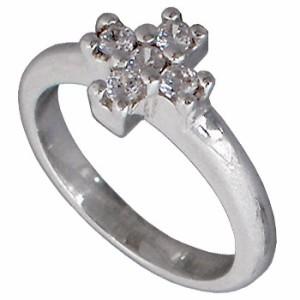 リング 指輪 レディース FREE STYLE フリースタイル シルバー キュービックジルコニア クロス FSR-566
