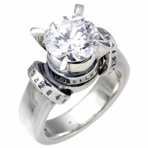 KEN BLOOD ケンブラッド シルバー リング 指輪 メンズ レディース スクロール キュービックジルコニア KB- KHR-16
