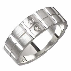 KEN BLOOD ケンブラッド シルバー リング 指輪 メンズ レディース 2ダイヤモンド KB-KR-118