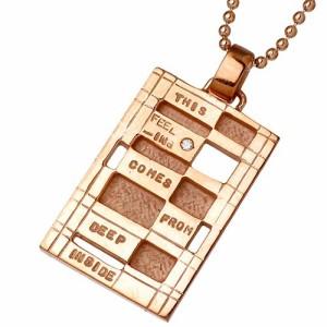 KEN BLOOD ケンブラッド シルバー ネックレス メンズ レディース ダイヤモンドメッセージ KB-NI-47