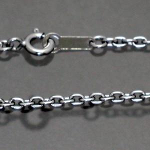 ネックレスチェーン ロジウムコーティングアズキシルバーチェーンブラック50cmカラーチェーンRM-CL060-BK-50