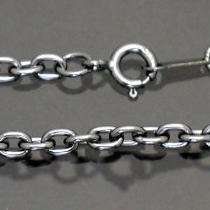 ネックレスチェーン ロジウムコーティングアズキシルバーチェーンブラック40cmカラーチェーンRM-CL100-BK-40