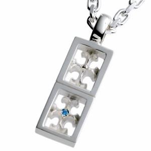 tip チップ ペンダントトップ レディース メンズ シルバー ブルーダイヤモンド TPNW010BD