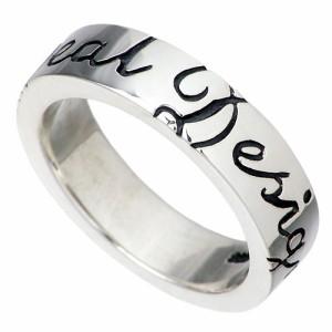 DEAL DESIGN ディールデザイン シルバー リング 指輪 メンズ レディース スクリプト 7月 誕生石 390558