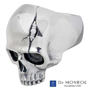 Dr MONROE ドクターモンロー シルバー リング 指輪 メンズ キュービックスカルメッセージスカルドクロ FC-205-SV