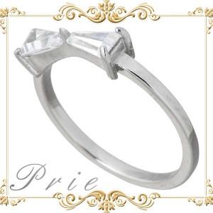 Prie プリエ リング 指輪 レディース ステンレス リボン キュービック 3〜13号 GRSS418ST アクセサリー