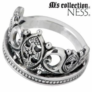 M's collection エムズコレクション シルバー リング 指輪 ペアー クラウン MC-635-636-P