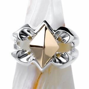 GIGOR ジゴロウ シルバー リング 指輪 メンズ レディース ひし形 SV+K18 NO-031