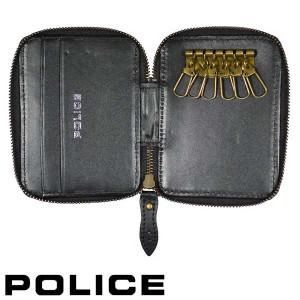 POLICE ポリス キーケース キーホルダー WINGTIP イタリアンレザーブラック 送料無料