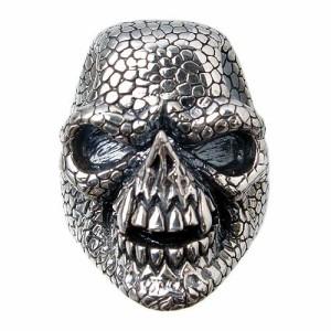 リング 指輪 メンズ DICKY & GRANDMASTER シルバー スネークマンスカル 髑髏ドクロ骸骨 ディッキー&グランドマスター PNSR-S