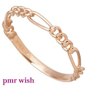 pmr wish ピーエムアールウィッシュ リング 指輪 レディース シルバー K10チェーン ピンキー RM-WPR234-K10PG