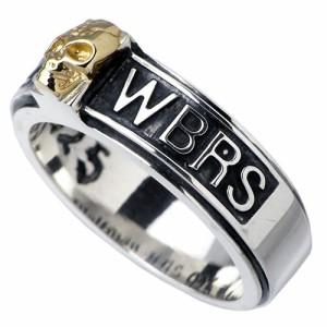 WOLFMAN B.R.S ウルフマン シルバー リング 指輪 メンズ スカルバンド ゴールド 髑髏ドクロ骸骨 WO-R-32G