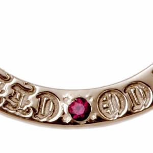 WOLFMAN B.R.S ウルフマン シルバー リング 指輪 レディース Wヘッド ストーン ピンク WO-R-043PSV