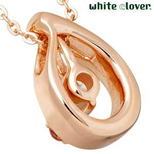 white clover ホワイトクローバー ネックレス レディース シルバー 天然石3way ピンクトルマリンキュービック WSPD700GP