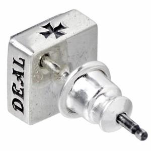 DEAL DESIGN ディールデザイン シルバー ピアス メンズ レディース ブラックスタッズラージ 1個売り片耳用 390816