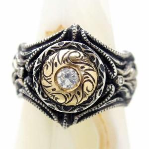 リング 指輪 メンズ DICKY & GRANDMASTER シルバー アプロ ストーンカスタムsv指 9月 誕生石 ディッキー&グランドマスターDR-05-ST
