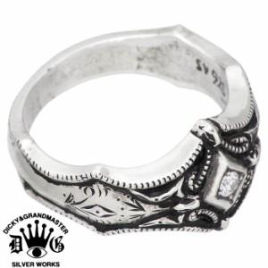 DICKY & GRANDMASTER リング 指輪 メンズ レディース シルバー ヴァジュラ Mカスタム ディッキー&グランドマスター DR-16SV-Dia