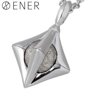 ENER エネル ネックレス メンズ シルバー ヘキサゴン ギベオン隕石 HEXAGON ENER-KF-05
